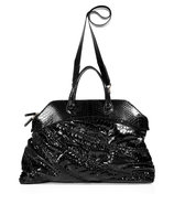 Black Python Crystal Bag