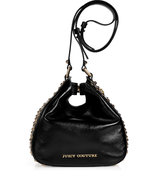 Black Leather Tough Girl Stevie Pinched Hobo