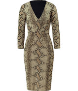 Aloe Vera Python Print Draped Dress
