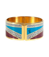 Claret/Persian Blue Art Deco Armlet