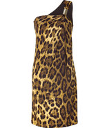 Leopard One Shoulder Dress