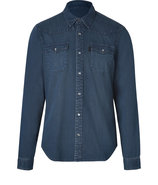 Dark Vintage Wash Indigo Cotton Darton Shirt