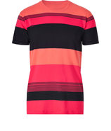 Rock Lobster/Pumpkin/Black Cotton Dylan Stripe T-S