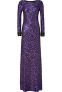 Sparkling Violet All-Over Sequin Dress
