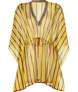 Curry/Saffron Stripe Short Caftan