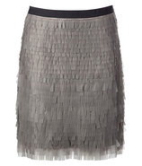 Grey Rubber Paillette Skirt