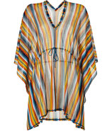 Curry/Petrol Rainbow Stripe Short Caftan