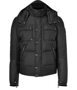 Black Down Hooded Caine Jacket