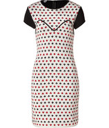 Black/White/Red Wool Playing Card Mitteza Dress