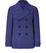 Aubergine Cotton Double-Breasted Jacket