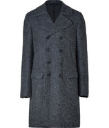 Charcoal Heather Double-Breasted Wool Coat