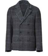 Anthracite/Sky Glencheck Double -Breasted Jacket