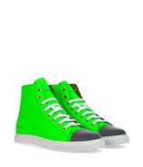 Neon Green/Reflector High-Top Sneakers