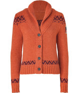 Orange/Rust Alpaca-Blend Buddha Knit Cardigan