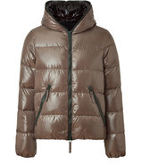 Taupe Dionisio Full Zip Down Jacket