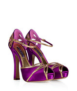 Fuchsia Silk Satin Erima Sandals