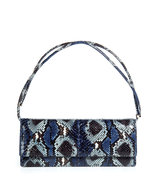 Navy and grey snakeskin bag with adjustable should