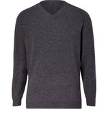 Anthracite Heather V-Neck Wool-Blend Pullover