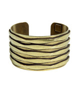 Oxidized Brass Plated Talum Cuff