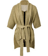 Beige Cardigan with Belt