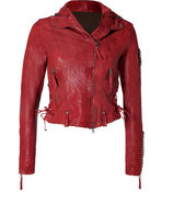 Red Laced Leather Jacket