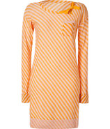 Blush/Mango Striped Wool Knit Dress
