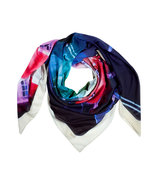 Multi Color Photo Print Scarf