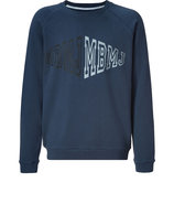 Twilight Navy Cotton Loopback Sweatshirt