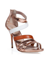 Bronze Metallic Strappy Sandals