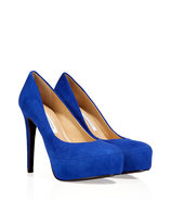 Royal Blue Suede Leather Pumps