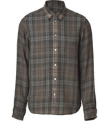 Tonal Grey Melange Plaid Ilia Shirt