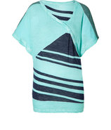 Mint/Navy Mixed Stripe T-Shirt