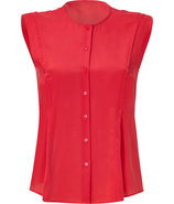Chili Red Silk Shirt