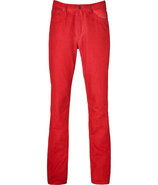 New red canvas pants