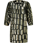 Gold and Black Brocade Dress