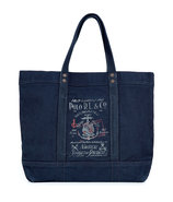 Aviator Navy Canvas Tote