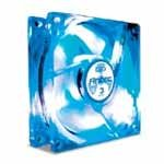 80mm Case Fan, Tricool Blue LED Fan, w/3 Speed Swi
