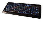 Noah USB Backlit Blue LED Multimedia Keyboard, Pia
