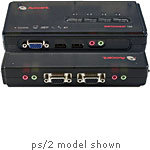 4-Port USB KVM Switch with Audio, (4) Cable Sets I