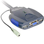 C2G TRULINK 2-Port VGA and USB Micro KVM Switch wi
