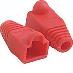 C2G RJ45 Plug Cover, Red, OD 6mm, 50-pack 04755