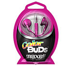 Maxell Color Buds Stereo Headphones, Pink 190540