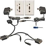 VGA/Audio-over-Cat5 (RJ-45) Extender Wallplate Kit