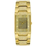 (R) Men's Gold-Tone Crystal-Accent Watch